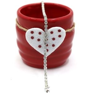 6.34 Carat Diamonds Tennis Bracelet 18k White Gold